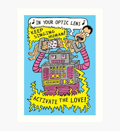 Robot Love Lámina artística