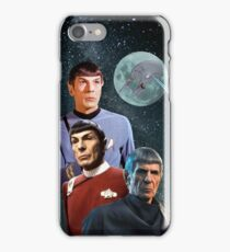 Three Spock Moon iPhone Case/Skin
