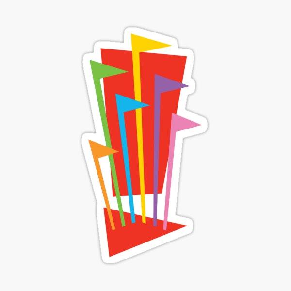 Six Flags Logo Sticker