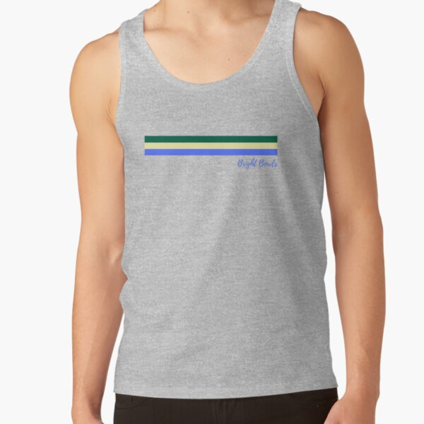 Green Yellow Blue Stripes Tank Top