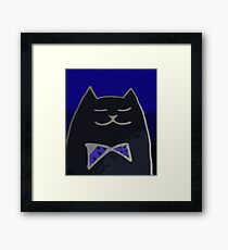 Cat in the Tux Framed Print