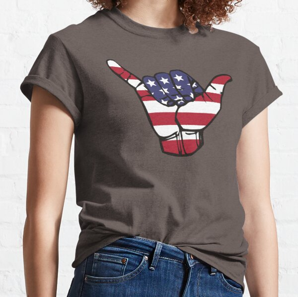USA Shaka T-shirt classique