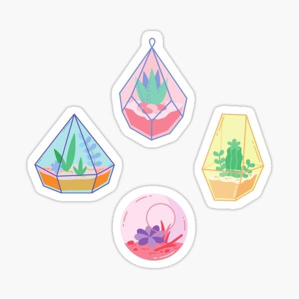 Succulents in Terrarium Pack Sticker