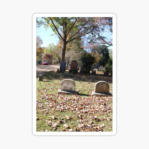 Polly's Grave at Maple Hill Cemetery in Huntsville Alabama Sticker