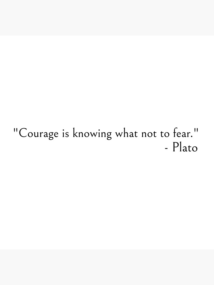 Courage is knowing what not to fear Plato quote by ds-4