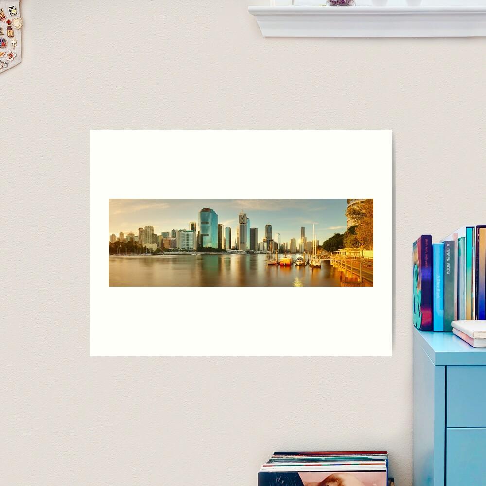 Brisbane from Kangaroo Point, Queensland, Australia Art Print