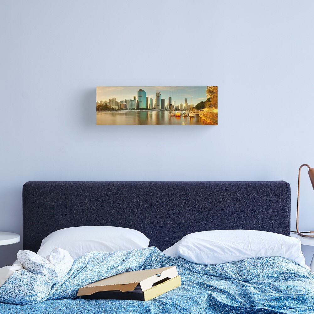 Brisbane from Kangaroo Point, Queensland, Australia Canvas Print