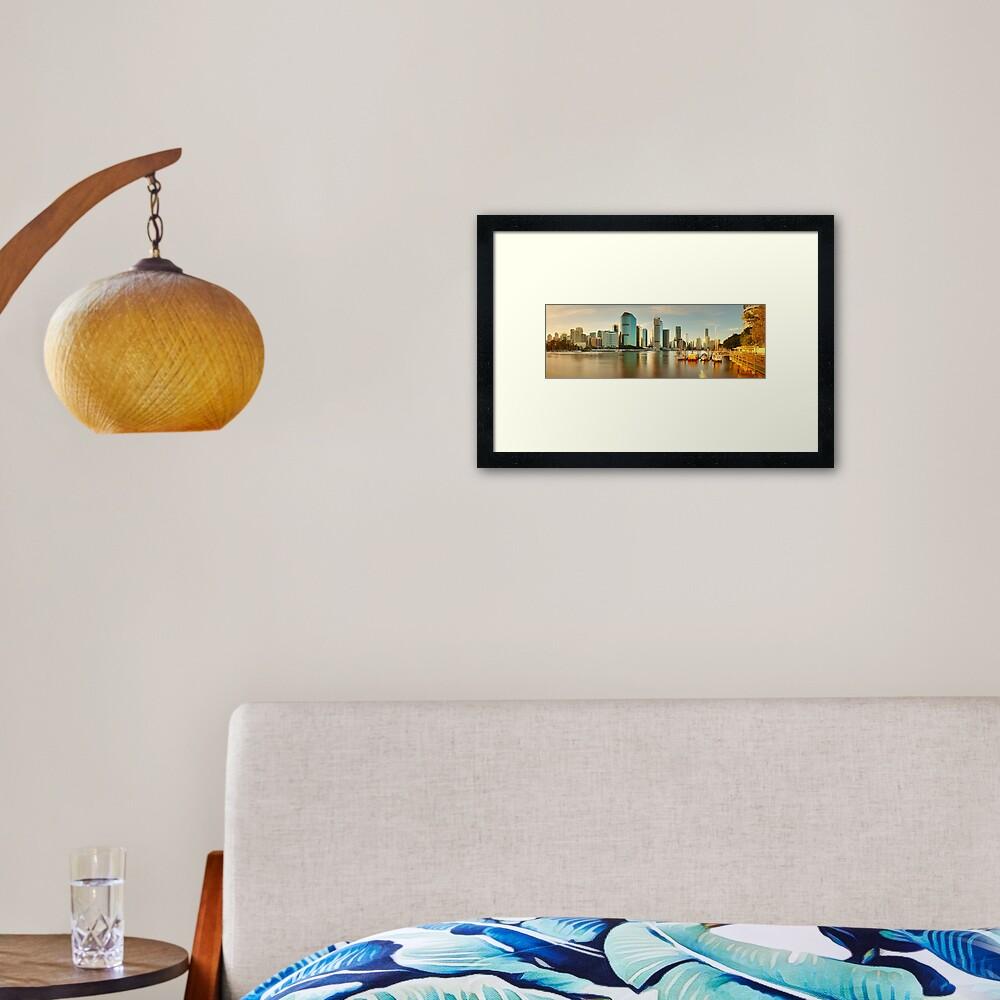 Brisbane from Kangaroo Point, Queensland, Australia Framed Art Print