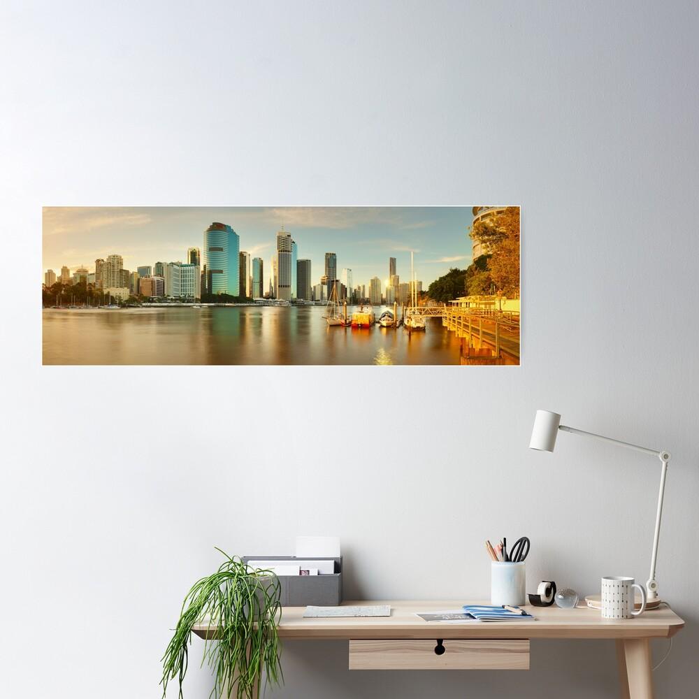 Brisbane from Kangaroo Point, Queensland, Australia Poster