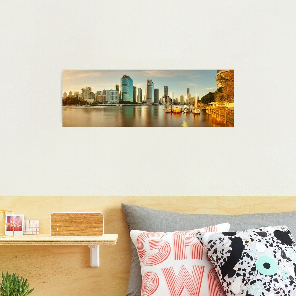 Brisbane from Kangaroo Point, Queensland, Australia Photographic Print