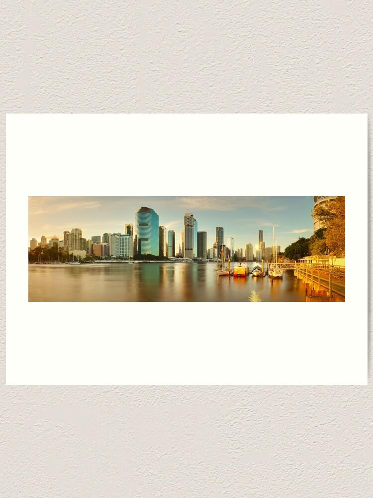Alternate view of Brisbane from Kangaroo Point, Queensland, Australia Art Print