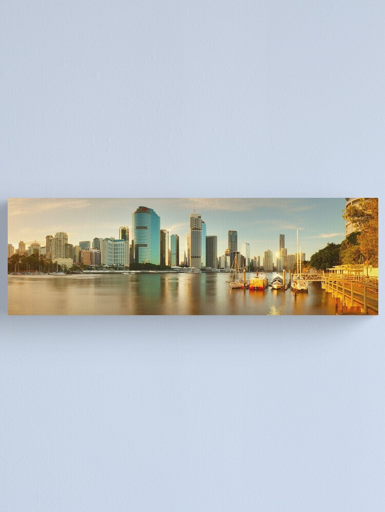 Alternate view of Brisbane from Kangaroo Point, Queensland, Australia Canvas Print