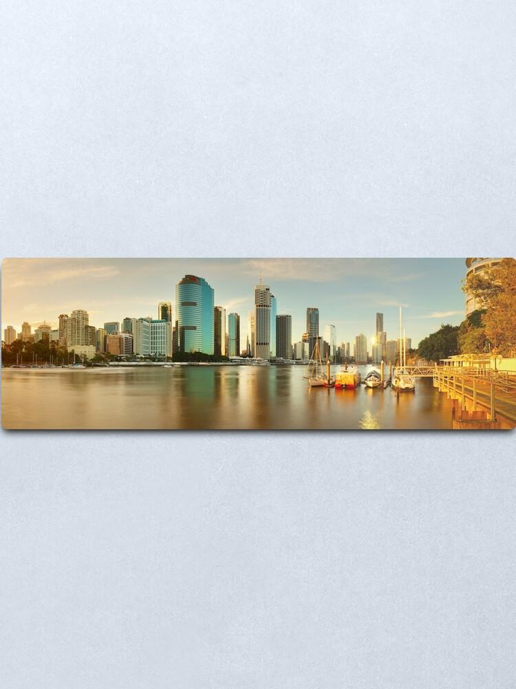 Alternate view of Brisbane from Kangaroo Point, Queensland, Australia Metal Print
