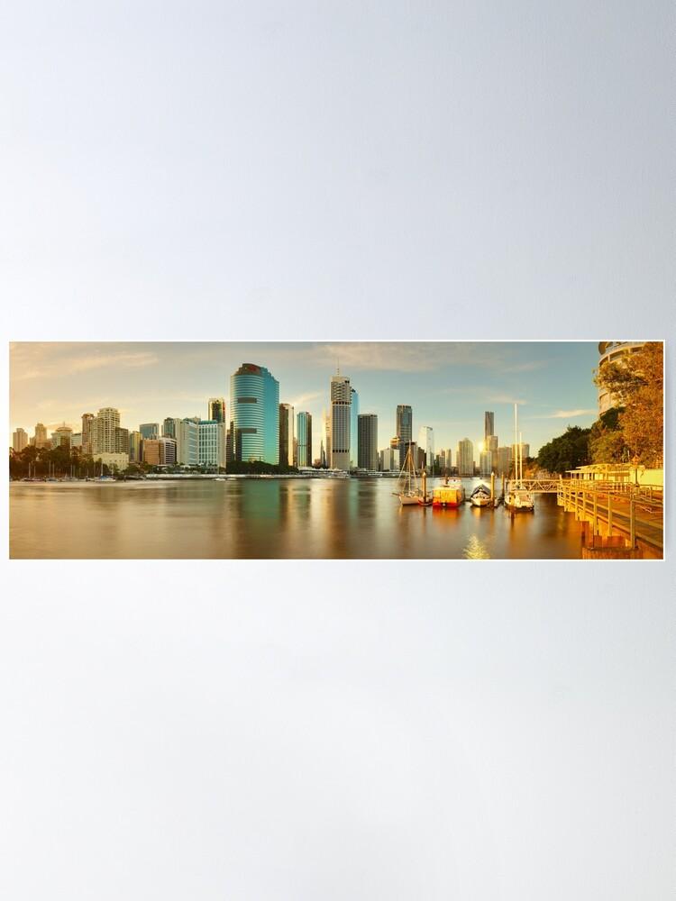 Alternate view of Brisbane from Kangaroo Point, Queensland, Australia Poster