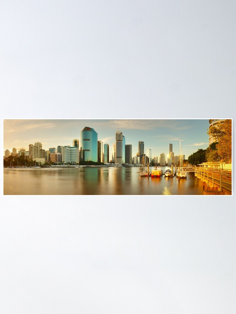 Alternate view of Brisbane from Kangaroo Point, Queensland, Australia Poster