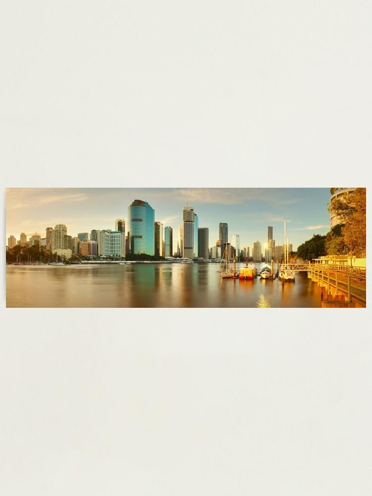 Alternate view of Brisbane from Kangaroo Point, Queensland, Australia Photographic Print