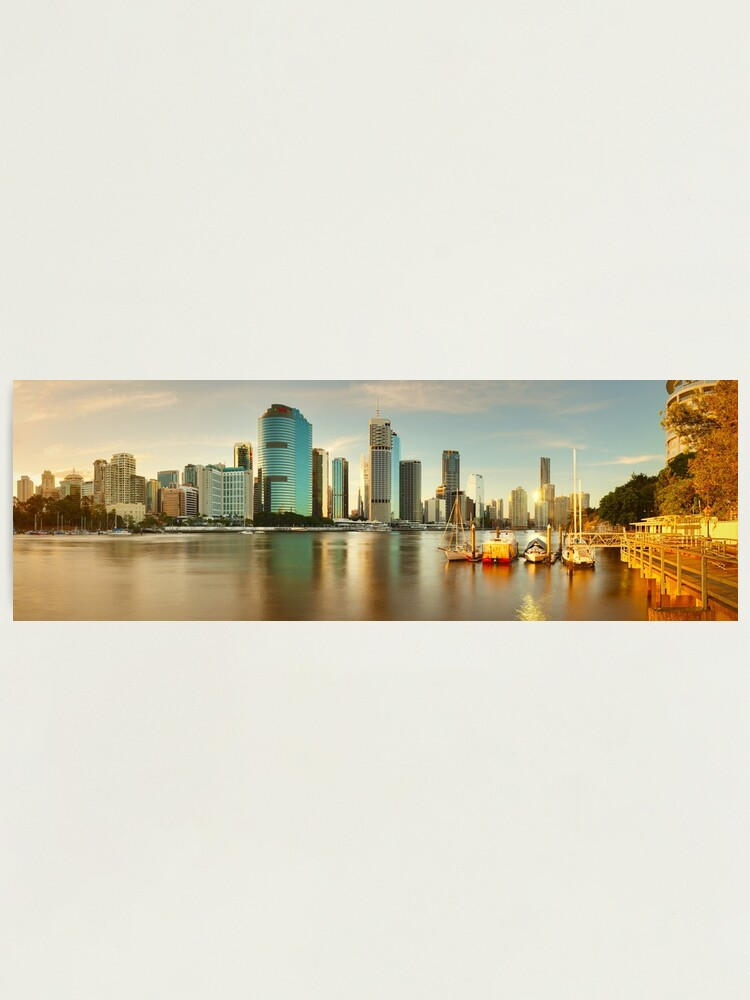 Alternate view of Brisbane from Kangaroo Point, Queensland, Australia Photographic Print