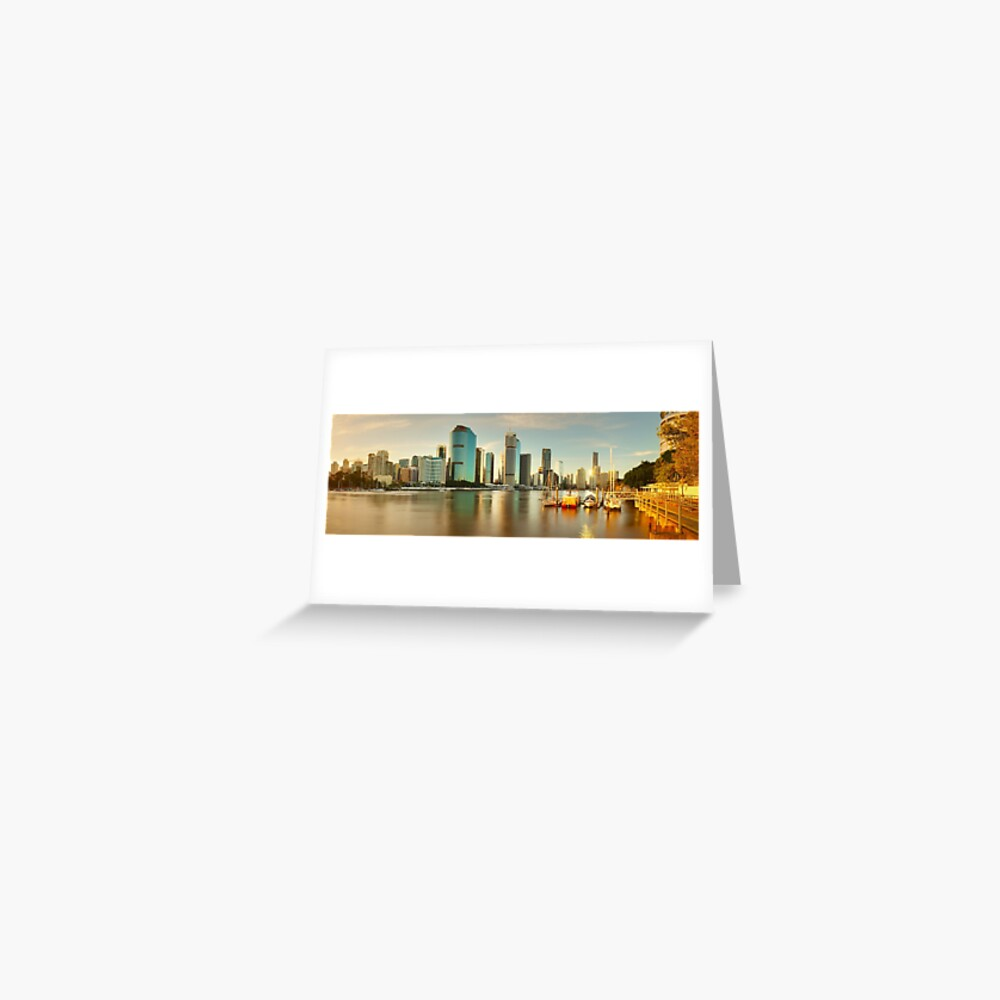 Brisbane from Kangaroo Point, Queensland, Australia Greeting Card