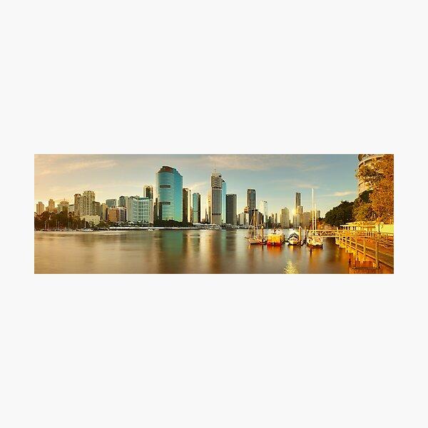 Brisbane from Kangaroo Point, Queensland, Australia Photographic Print