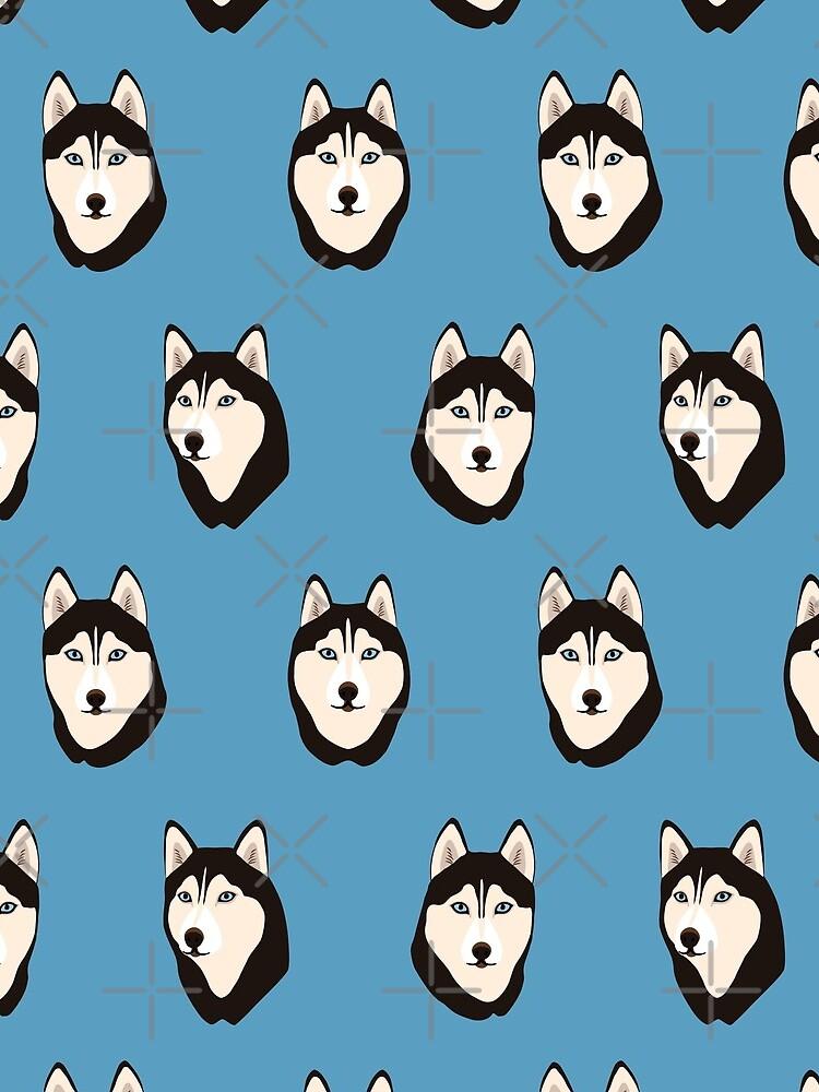 Husky Dogs Heads by nadyanadya