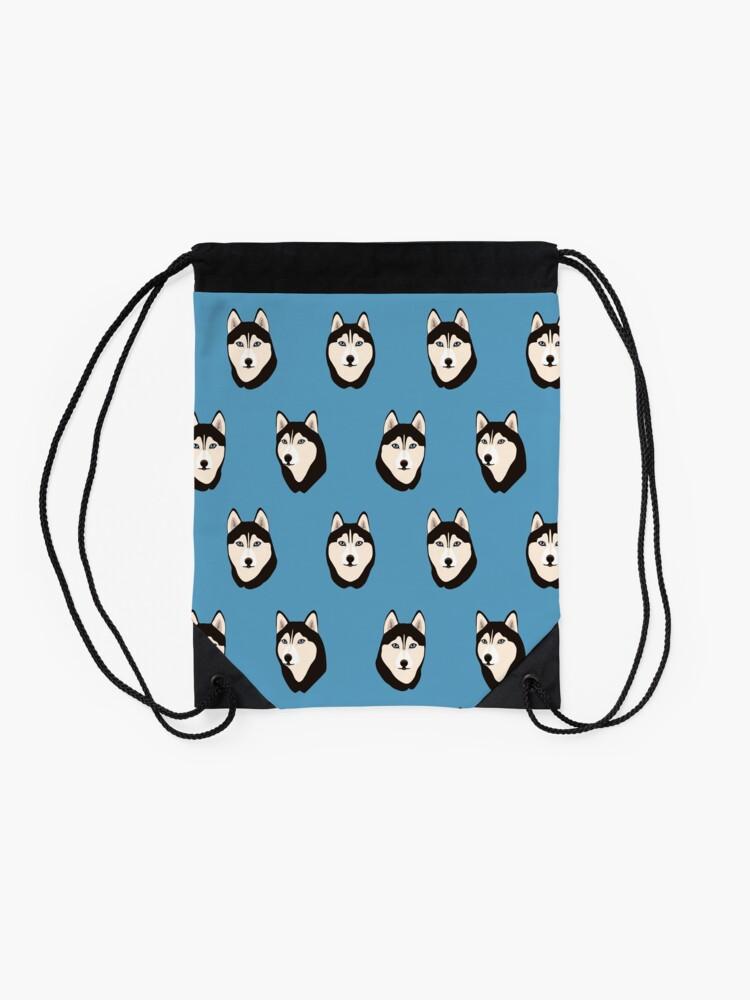Alternate view of Husky Dogs Heads Drawstring Bag