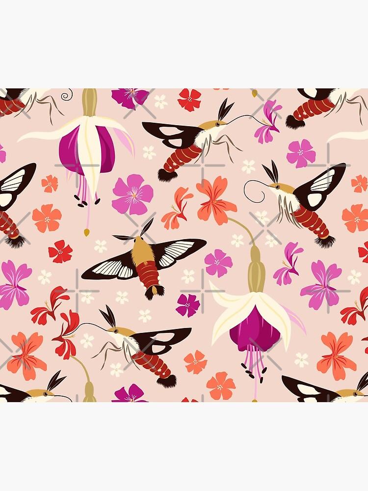 Hummingbird Moths by nadyanadya