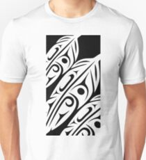 Three Feathers Abstract Zoom Unisex T-Shirt
