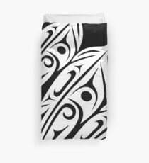 Three Feathers Abstract Zoom Duvet Cover