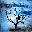 Blue and Black Tree by Katie Robinson