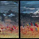 Tibetan Prayer Flags by Katie Robinson