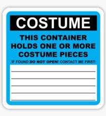 Costume HazMat Sticker Sticker