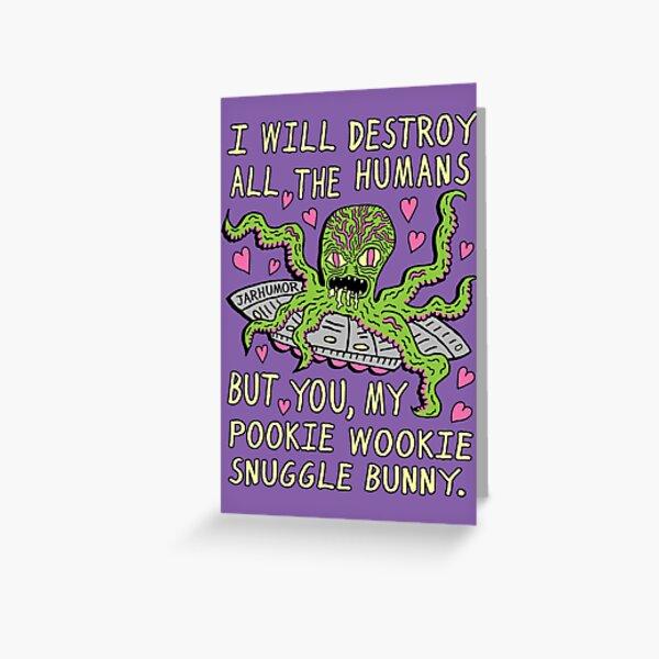 Alien Love Greeting Card