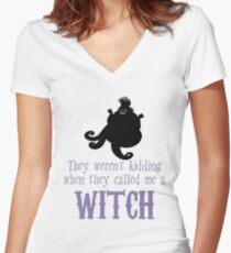Nasty Sea Witch Women's Fitted V-Neck T-Shirt