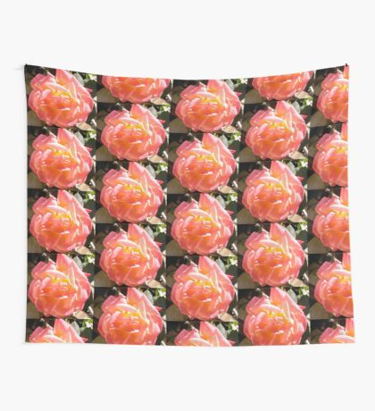 Pink Rose Wall Tapestry