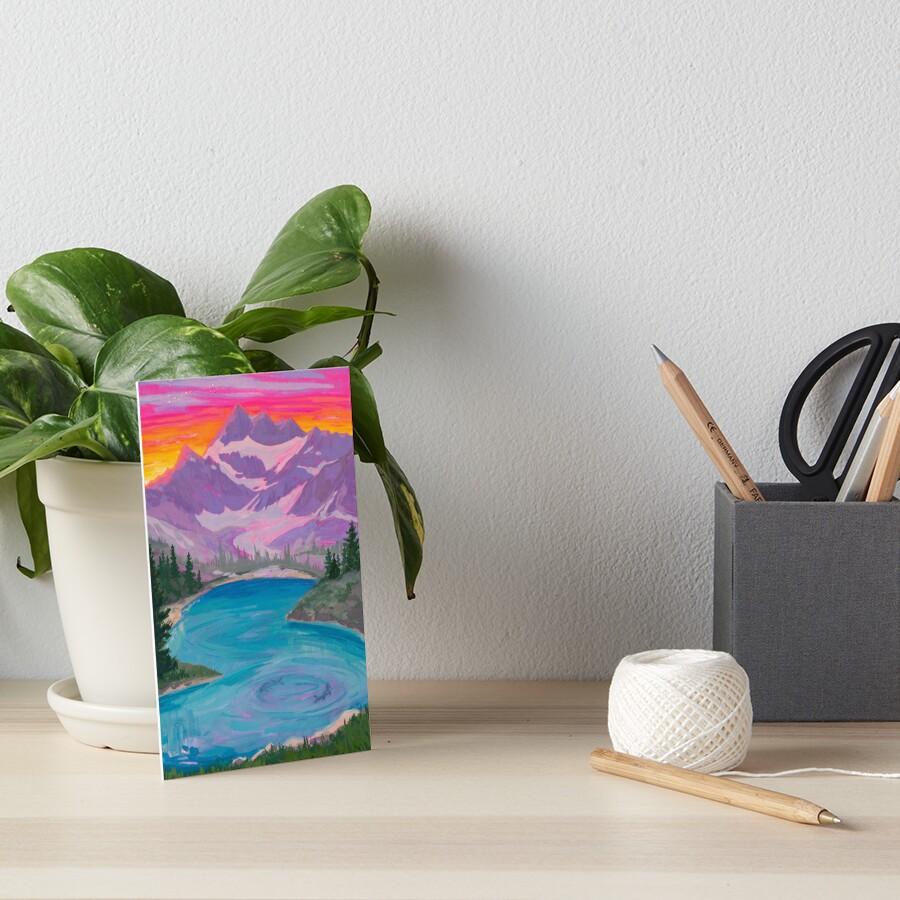 Zodiac Signs as Landscape Paintings - Pisces Art Board Print