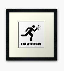 Run With Scissors Framed Print