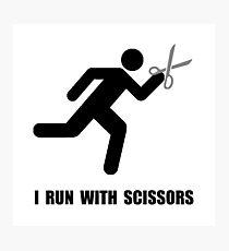 Run With Scissors Photographic Print