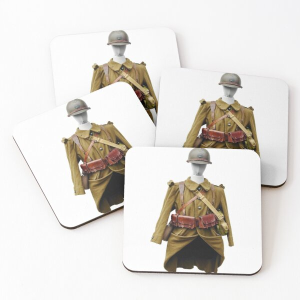 French Army Uniform Coasters (Set of 4)