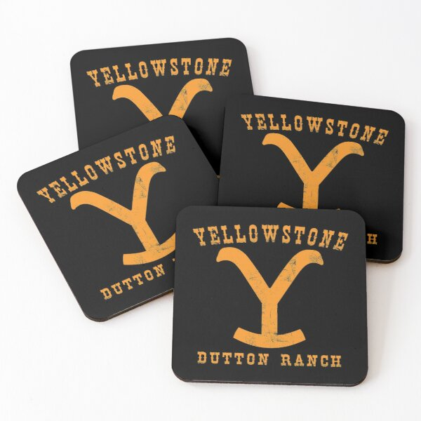Yellowstone Dutton Ranch - Professional Quality Graphics Coasters (Set of 4)