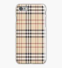 burberry inspired design iPhone Case/Skin