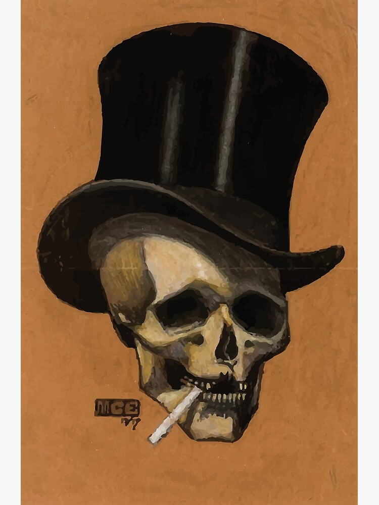 M.C. Escher   Skull With Cigarette by badguyduh