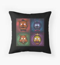 Animatronic Ghosts Throw Pillow