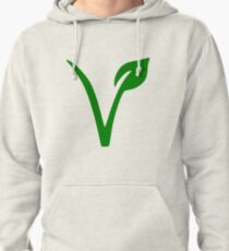 Vegan and Vegetarian Symbol Pullover Hoodie