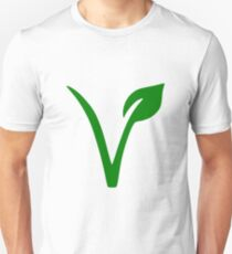 Vegan and Vegetarian Symbol Unisex T-Shirt