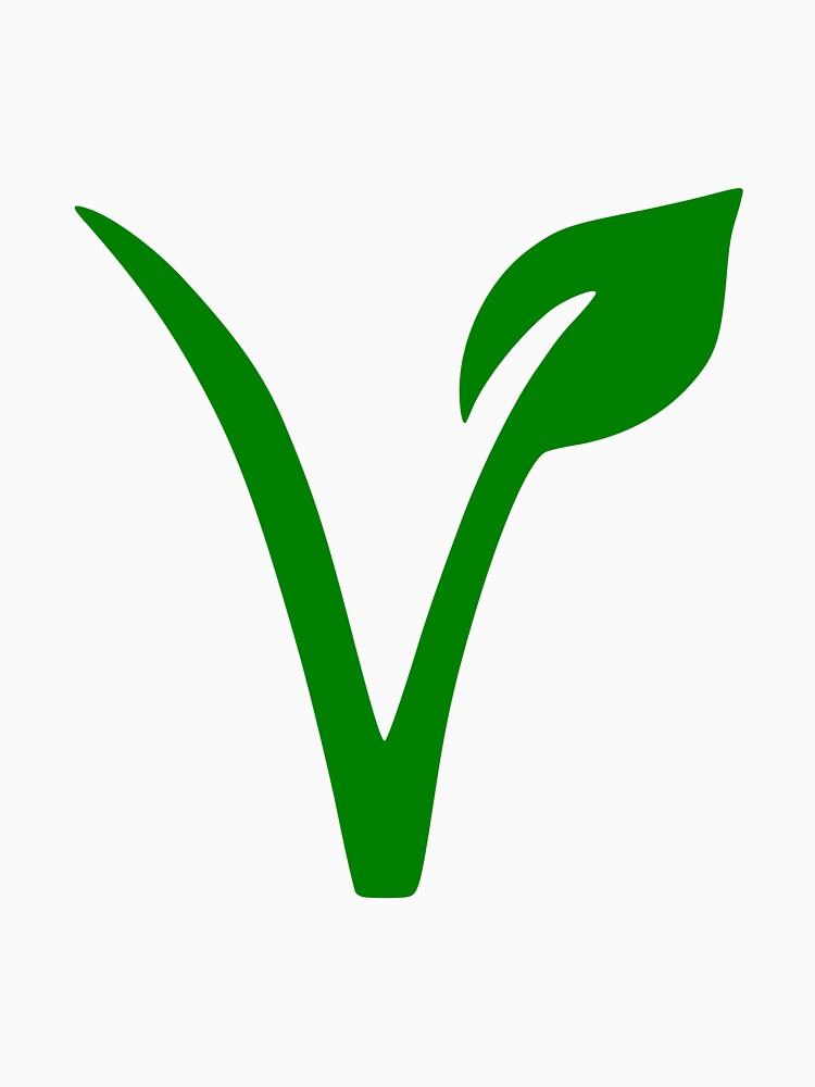 Veganes und vegetarisches Symbol von gatecomet
