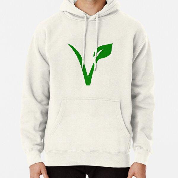 Veganes und vegetarisches Symbol Hoodie