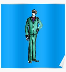 Beetles Green Sport Suit Music Blue Man Male Fashion Poster