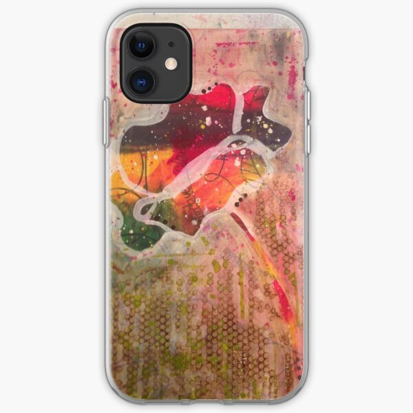Rainbow Poppies iPhone Soft Case