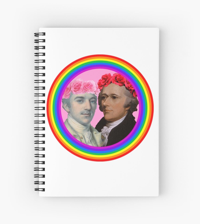 John Laurens X Alexander Hamilton Spiral Notebooks By Zeldakinz