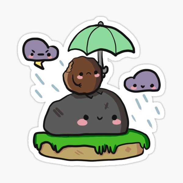 Out on a rainy day Sticker